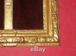 Cadre Christ époque 17 ème, Louis XIII, En Bois Doré