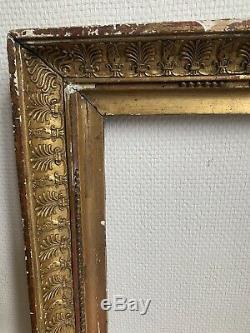 Cadre EMPIRE À Palmettes bois et stucs dorés déb XIXe 19TH Feuillure 48 / 35,5