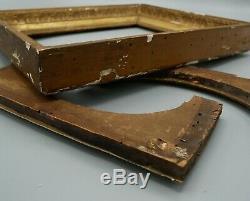 Cadre Empire en bois doré, palmettes, portrait, montage à clefs, 26/23, XIXe