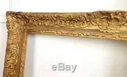 Cadre / Encadrement Fin XIXe En Bois et Stuc De Style Louis XV (82x65cm)