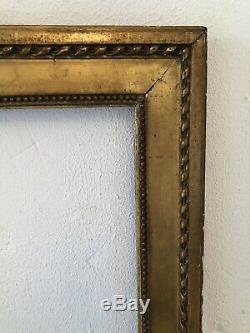 Cadre Epoque LOUIS XVI Bois sculpté doré fin XVIIIe FRAME 10F