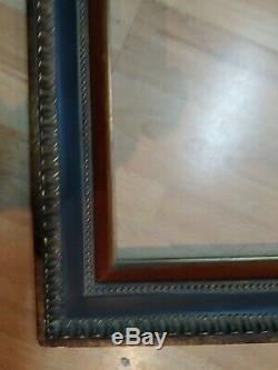 Cadre GOUDE 8F bois doré noir rouge feuillure 46 cm x 38 frame photo tableau
