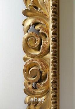 Cadre, Italie, Baroque, bois doré, sculpté, tableau, XVII, Rome
