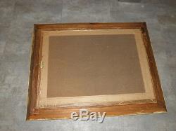 Cadre MONTPARNASSE vintage old Framed patine canevas Pattern