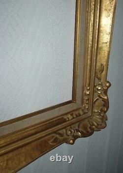 Cadre Montparnasse grand format doré à la feuille feuillure 110 x 50 cm