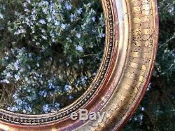 Cadre Ovale Bois Doré XIX Siècle Louis Philippe Encadrement Pour Dessin Peinture