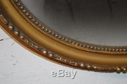 Cadre Ovale Dore En Bois Et Stuc Style Louis XV Avec Noeud