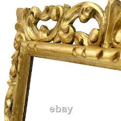Cadre Sculpté Ancien de XIXéme en bois ajouré et doré Feuillure 50x40 cm