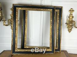 Cadre Style Napoleon III En Bois Peint Et Doré Pour Peinture 73 CM X 60 CM 20f