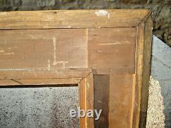 Cadre XIXème en bois doré 53 X 57 Vue 25,5 X 30 Feuil 28,5 X 33 Epaisseur 7 cm