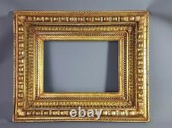 Cadre à caisson bois & stuc doré XIXe siècle 54x44,5 feuillure 34,4x24,4cm SB139