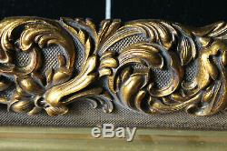 Cadre ancien 18,5cm x 13,5cm XIXème Bois Stuc sculpté et doré