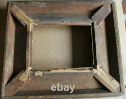Cadre ancien 21,5cm x 17cm XIXème Bois Stuc doré