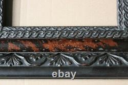 Cadre ancien 21cm x 12cm Ecaille de tortue (faux) Bois Stuc sculpté