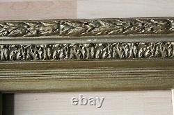 Cadre ancien 24cm x 18cm XIXème Bois Stuc sculpté et doré