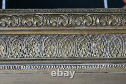 Cadre ancien 32cm x 24cm XIXème Bois Stuc sculpté et doré