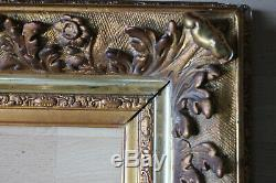 Cadre ancien 48 x 38cm Bois sculpté et doré