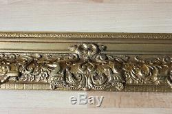 Cadre ancien 50cm x 40cm Bois sculpté et doré