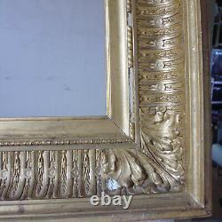 Cadre ancien à Canaux bois doré et montage clé cartel Perrachon André Lyon 19e