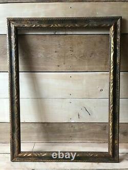 Cadre ancien bois doré XIXème à clés 19 ème tableau encadrement
