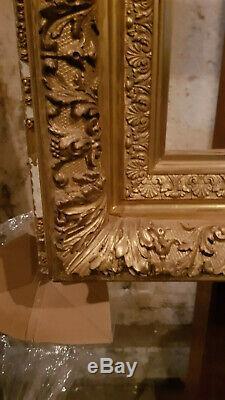 Cadre ancien bois et stuc doré fin XVIII 30F 92 x 73 cm