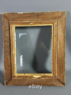Cadre ancien bois sculpté doré 38x32 cm, feuillure 26,3x20,3 cm Très bel état SB