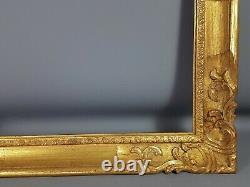 Cadre ancien bois sculpté doré style Louis XV, 62x51, feuillure 50x39,5 cm SB127