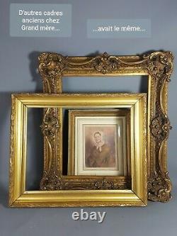 Cadre ancien bois & stuc doré 66x54 feuillure 54x43 cm Très bel état SB161