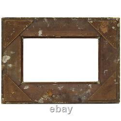 Cadre ancien de 1900 en bois doré 28 x 16,5 cm à l'intérieur