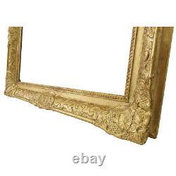Cadre ancien des années 1920-1940 en bois decoré doré doré Feuillure 61,5x51 cm
