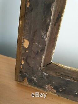 Cadre ancien en bois XIXe dore à clés authentique