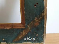 Cadre ancien en bois dore XIXe à clés. Belle dorure or