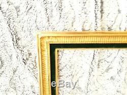 Cadre ancien en bois dore empire