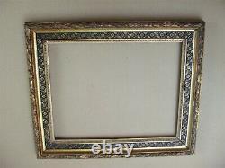 Cadre barbizon en bois et stucs doré fin XIXe Siècle feuillure 45 x 35,5 cm