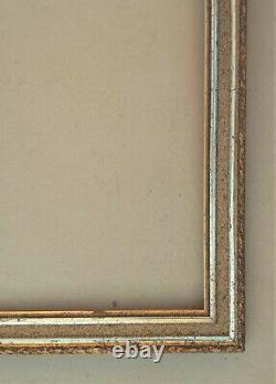 Cadre barbizon en bois et stucs doré fin XIXe Siècle feuillure 60 x 50 cm