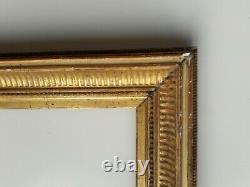 Cadre bois et stuc doré XIXe