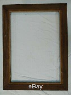 Cadre bois montparnasse doré feuillure 94 cm x 66 frame photo peinture gravure