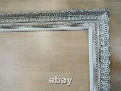 Cadre bois montparnasse patiné feuillure 75 cm x 60 cm frame peinture miroir