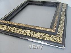 Cadre bois noirci doré clés 35,5 x 29,5 33 x 27 Hollande Italie XVII XVIIIe