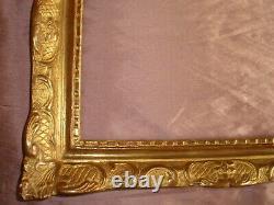 Cadre bois sculpté & doré de style XVII / XVIIIème siècle pour tableau / miroir