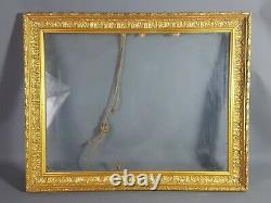 Cadre bois &stuc doré feuilles d'acanthes 60,5x48 cm feuillure 52,4x40 cm SB