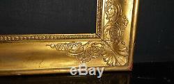 Cadre doré empire Restauration pour tableau peinture gravure 42 x 34 a clef