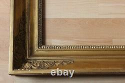 Cadre empire ancien 45cm x 37cm XIXème Bois Stuc doré