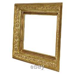 Cadre en bois doré à la feuille pour peinture 45x33 cm à l'intérieur