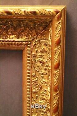 Cadre en bois doré de style Régence