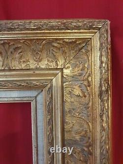 Cadre en bois doré de style, tableau peinture