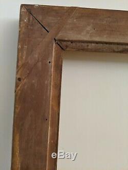 Cadre en bois doré époque Restauration 20F feuillure 73 x 60 cm
