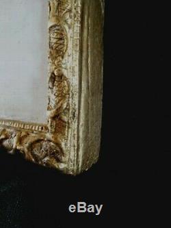 Cadre encadrement ancien sculpté en bois, doré à la feuille XVIII siècle Régence