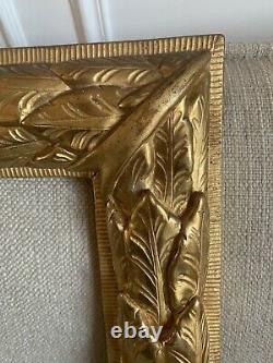 Cadre époque Louis XVI, 18 Eme En Bois Sculpté Italie Doré À Lor