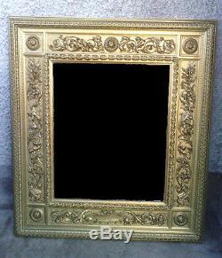 Cadre miroir bois doré sculpté oiseau dragon renaissance venitien mirror frame